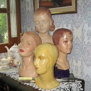 1920 30 40s head displays hats mannequina