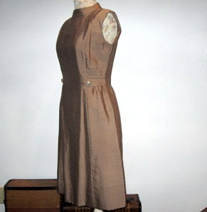 vintage shealth dress Leslie Fay 60s