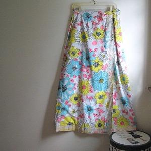 maxi skirt 60s hippie boho vintage flowers