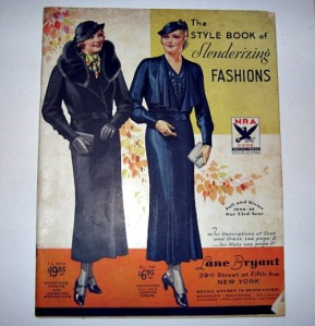 1934 vintage fashion catalog Lane Bryant large sizes