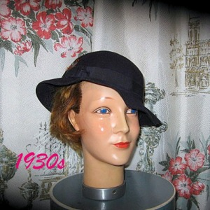 deco vintage fedora hat ladies 1934 early 30s