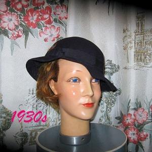 deco vintage fedora hat ladies 1934 early 30s