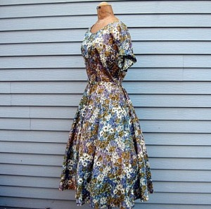 Vintage 50s lerge plus size dress Lucy style