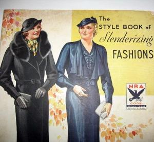 deco clothing book slenderizing plus size styles dresses coats hats