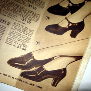 vintage shoes styles 1934 35 fall winter styles book