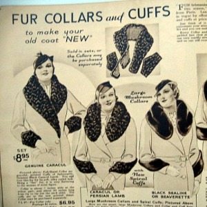 vintage collars and cuffs for 30s deco winter coats