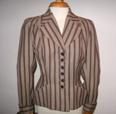 Forties fitted hollywood striped jacket vintage