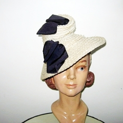 vintage 40 forties hollywood style tilt hat over the top style