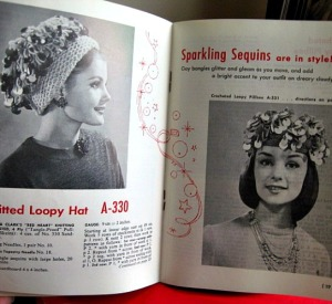 1962 knit crochet funky hats pattern