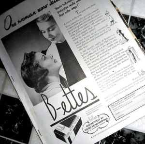 B-ettes advertisement 1937 product for women
