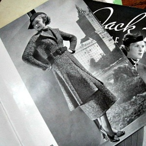 vintage 1930s hand knit fashion book. Make your own clothing.