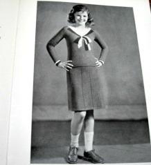vintage 30s knitting book for girls knit dress