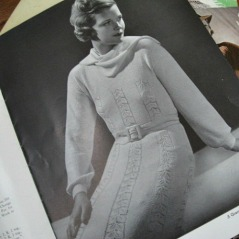 1930s vintage pattern book to make knitted fashion clothing.