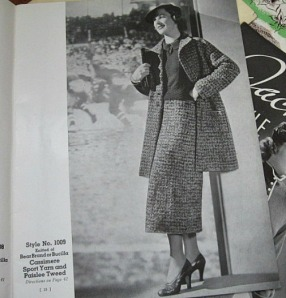 vintage 1930s knitting book for clothing,suits,coats.