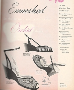 vintage wedges from 1953 orchis brand spring fashions